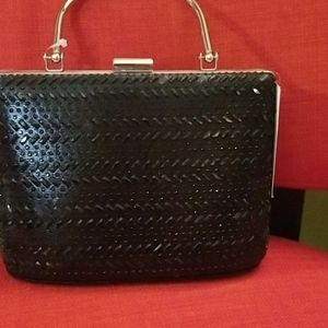D'margeaux black sequins purse